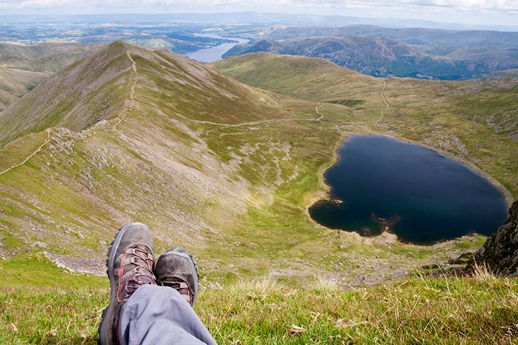 Red Tarn from Helvellyn nr Ullswater
